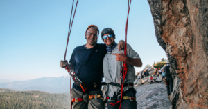 Summit Adventure Father and Son on Adventures in Fatherhood BackpackingCourse