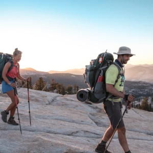 Backpacking with Summit Adventure at Sunset