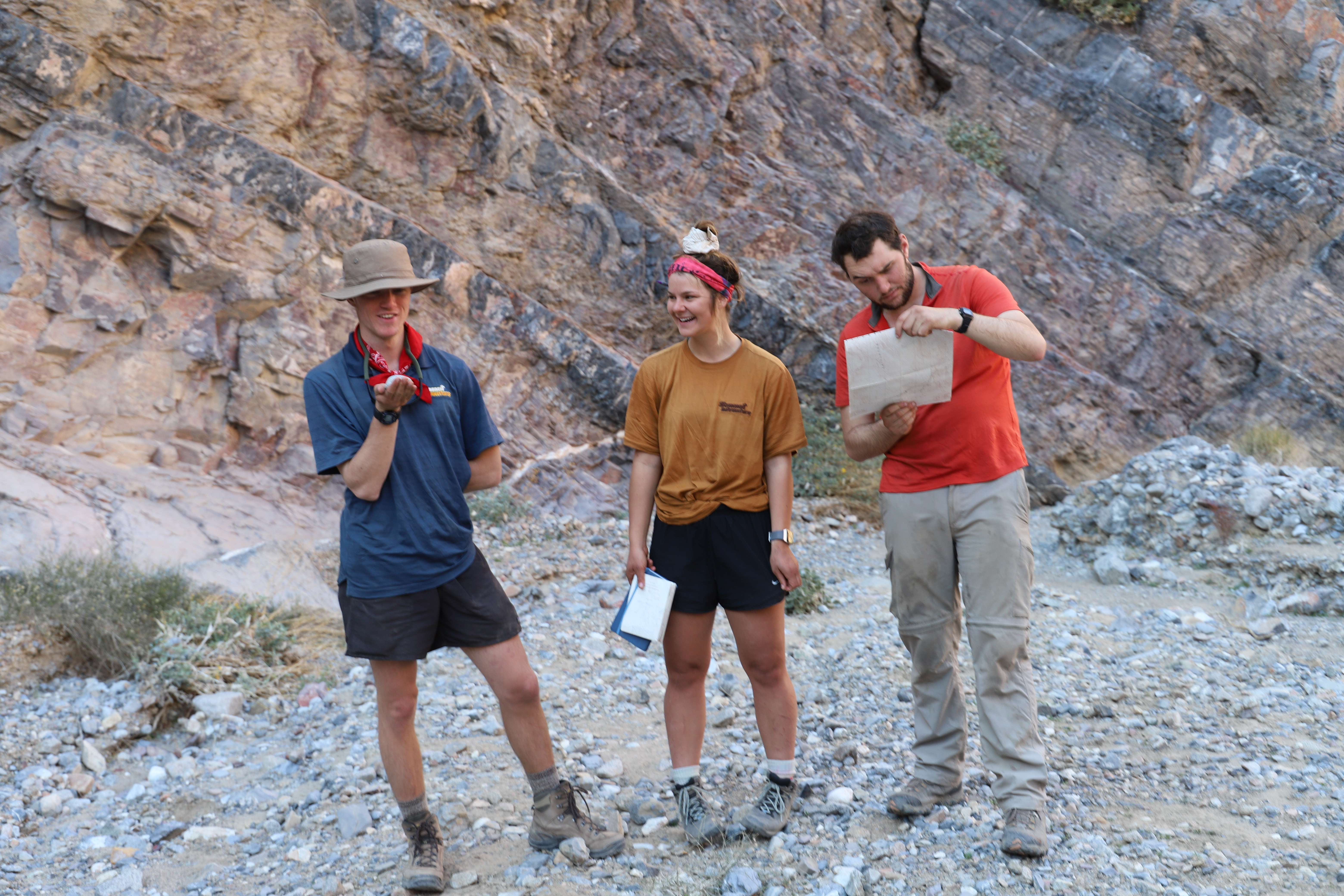 Christian outdoor adventure study abroad students in death valley