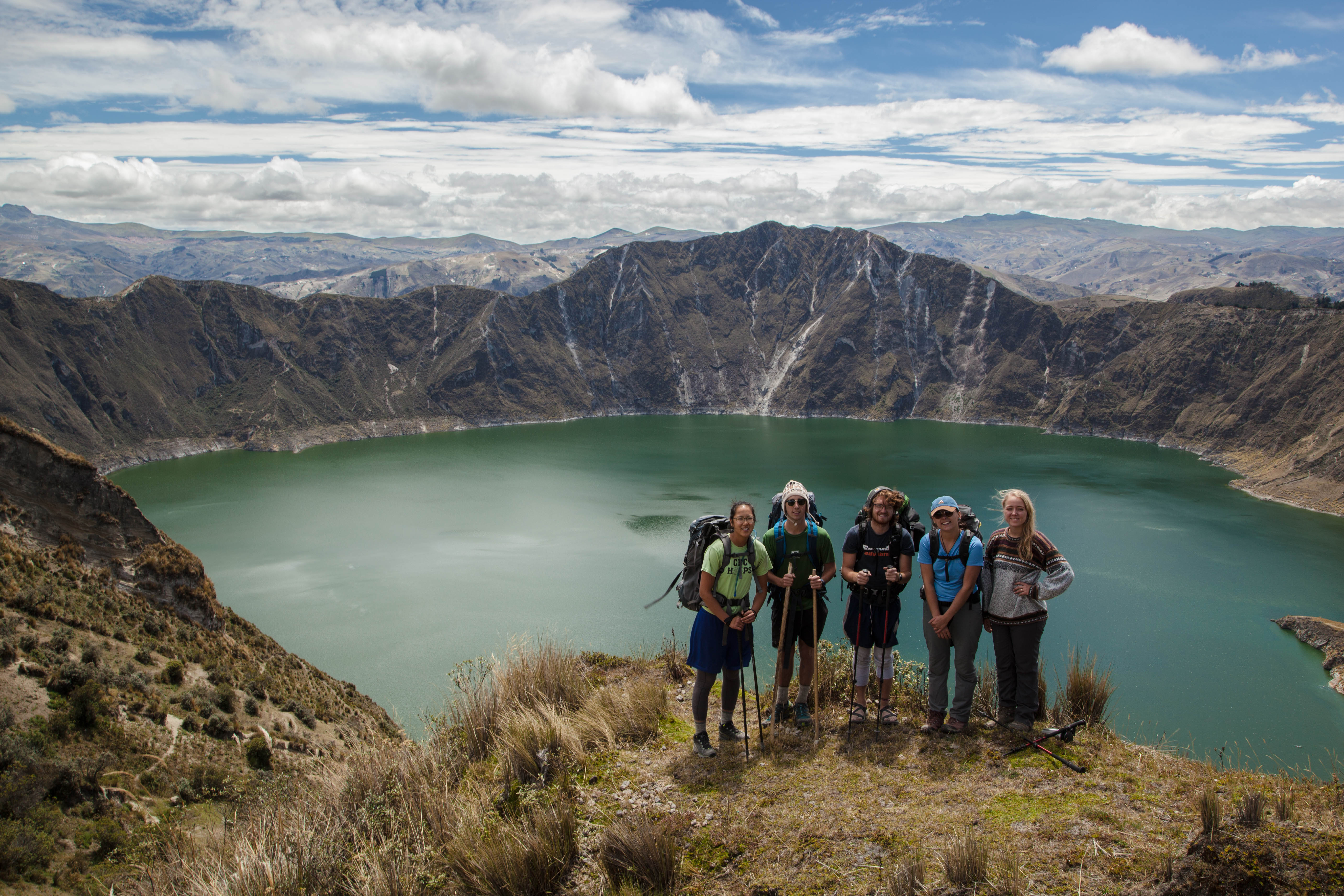 Students backpacking in Ecuador on the Semester Program